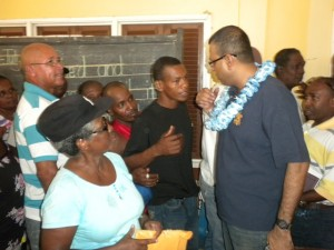 Min. Persaud interacting with the residents of Kuru Kururu, Soesdyke Linden Highway