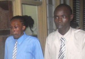 The two men accused of executing the murders. [Kaieteur News Photo]