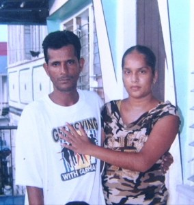 Shameeza Mohammed and her husband in happier times.