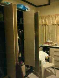 The ransacked closet.