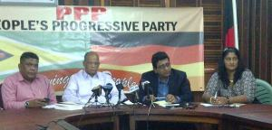 PPP members during the press conference this morning, Monday September 9, 2013.
