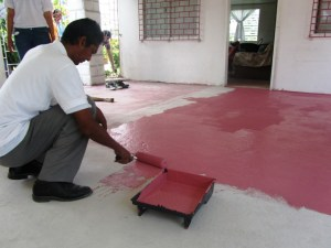 A staff member at work at the Gentle Women's Home. [iNews' Photo]