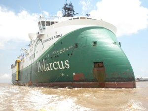 The Polarcus Asima enlisted by Repsol to undertake 2D and 3D surveys in the Kunuku Block