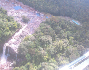 An overhead view of  the Amaila Falls taken by GINA in 2012.