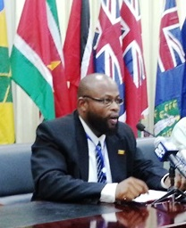 Grenada's Minister of Agriculture Roland Bhola