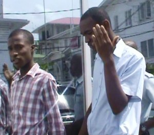 The two accused: Akeem Hatton and Seethan Daphness.