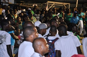 A section of the gathering at the PNC/R rally in Golden Grove on October 26