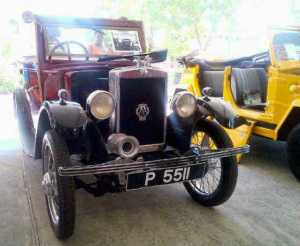 One of the vintage cars on display. [iNews' Photo]