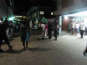 Relatives of the dead men gather at the Georgetown Public Hospital. [iNews' Photo]