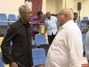 Opposition Leader, David Granger and President Donald Ramotar.