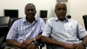 Drs. Leroy Phillip (L) and Wayne Ganpat..