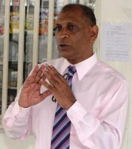 Minister of Agriculture, Dr. Leslie Ramsammy.