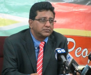 PPP Member, Anil Nandlall. [iNews' Photo]