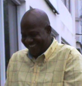 Shermon Edmondson smiles as he leaves the Georgetown Magistrate's Court. [iNews' Photo]