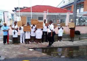 The nurses during their protest action on Friday, November 22. [iNews' Photo]