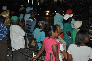 Some of the supporters at the rally held in Berbice.