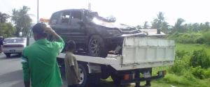 The vehicle involved in the accident. [iNews' Photo]