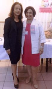 Pamela Nauth (President) and Patricia Sheerattan-Bisnauth (Executive Secretary)