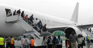 TravelSpan's inaugural flight at the Cheddi Jagan International Airport.