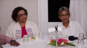 L - R:  Rev. Patricia Sherrattan-Bisnauth of GRPA and Ms. Karen De Souza of Red Thread participating in the panel discussion.