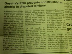 The article which appeared in the Times of Suriname.