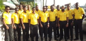 Guyana Super 50 team prepare for departure.