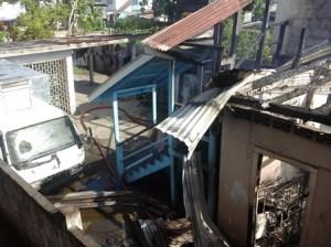 The damaged house. [iNews' Photo]