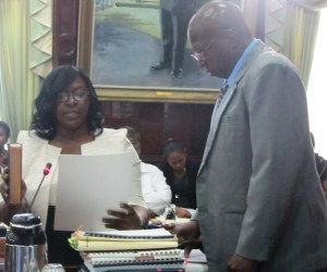 Dr. Cummings takes the oath in the National Assembly. [iNews' Photo]