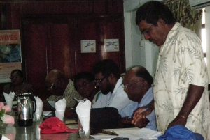 AFC Councilor, Naithram speaking at the RDC meeting at Anna Regina on Tuesday.
