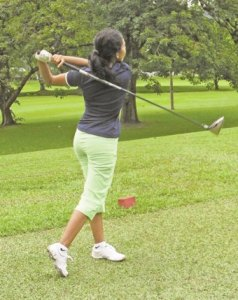 Christine Sukhram, Women's Golf Champion.