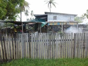 The house where Vicky lived with his wife and children. [iNews' Photo]