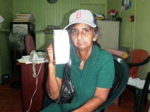 The elderly woman, Bibi Neisha Khan is accusing her daughter of beating her.