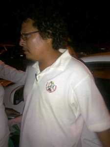 The alleged drunk GGMC Employee was caught after driving away from the scene of the accident. [iNews' Photo]