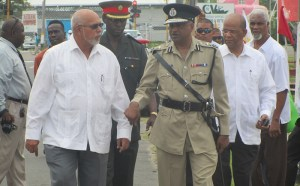 President Donald Ramotar and Commissioner of Police (ag), Seelall Persaud earlier this year. [iNews' Photo]