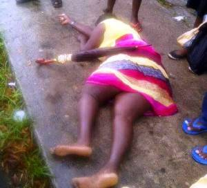 The pregnant woman fainted shortly after the accident. [Mondale Smith's Photo]