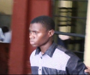 19 – year - old Jarrel Reid was remanded to Prison. [iNews' Photo]
