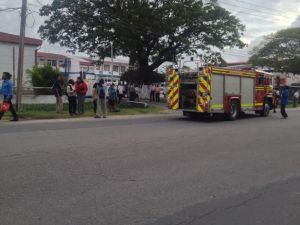 The Fire Service responded to the bomb threat. [iNews' Photo]