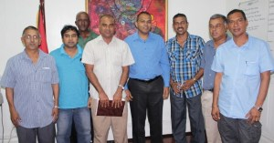 Members of GFSCA and Sports Minister Dr. Frank Anthony when they met recently.