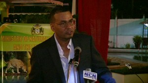 Natural Resources Minister Robert Persaud