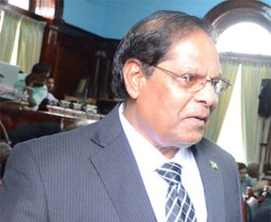 AFC MP, Moses Nagamootoo.