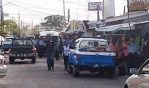 The police raiding shops along sweet point in early January where a number of items were seized.