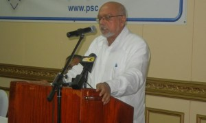 President Donald Ramotar addresses the gathering. [iNews' Photo]