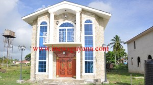 One of the houses already constructed at Leonora, West Coast Demerara.