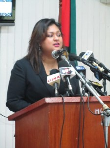 Education Minister, Priya Manickchand. [iNews' Photo]