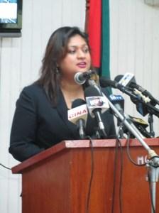 Education Minister, Priya Manickchand. [iNews' Photo]