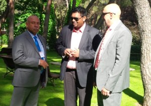 Minister Ali and Minister Mckie along Spain's Ambassador to Trinidad and Tobago