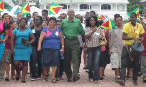 President David Granger arrives at a PNCR Congress. [iNews' Photo]