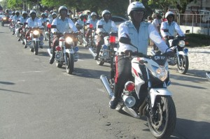 Traffic Ranks along the parade route. [iNews' Photo]