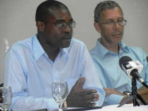 AFC General Secretary, David Patterson and Member, Dominic Gaskin. [iNews' Photo]