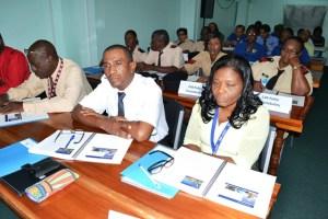 Participants at the Airport security training workshop at the Cheddi Jagan International Airport. [GINA Photo]